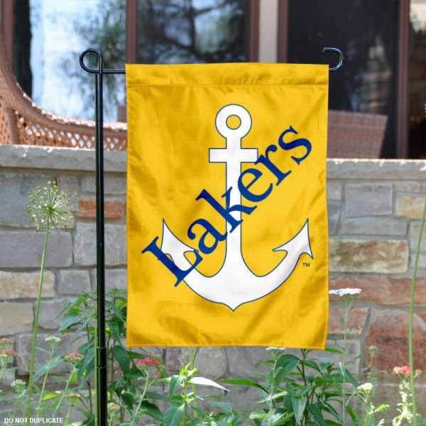 Lake Superior State University Garden Flag is 13x18 inches in size, is made of 2-layer polyester, screen printed university athletic logos and lettering, and is readable and viewable correctly on both sides. Available same day shipping, our Lake Superior State University Garden Flag is officially licensed and approved by the university and the NCAA.