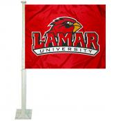Lamar University Car Window Flag