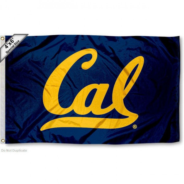 Large 4x6 Flag for University of California measures 4x6 feet, is made thick woven nylon, has quadruple stitched flyends, two metal grommets, and offers screen printed NCAA Cal Berkeley Large athletic logos and insignias. Our Large 4x6 Flag for University of California is officially licensed by Cal Berkeley and the NCAA.