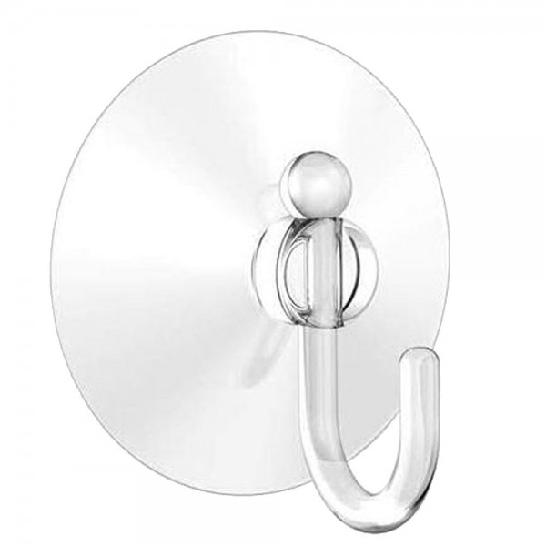 Our Large Suction Cup with Hook is ideal for hanging our Mini Banner Pole and Garden Flag on any window or mirror. The clear plastic suction hook has a diameter of 1.75 inches.