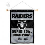 Las Vegas Raiders 2 Time Champions Window and Wall Banner