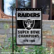 Las Vegas Raiders 2 Time Super Bowl Champs Garden Flag
