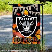 Las Vegas Raiders Fall Football Leaves Decorative Double Sided Garden Flag