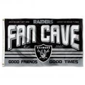 Las Vegas Raiders Fan Cave Flag Large Banner