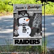 Las Vegas Raiders Holiday Winter Snow Double Sided Garden Flag