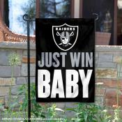 Las Vegas Raiders Just Win Baby Garden Banner Flag