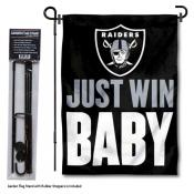 Las Vegas Raiders Just Win Baby Garden Banner and Flag Stand