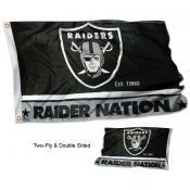 Las Vegas Raiders Raiders Nation Double Sided Flag