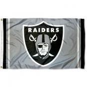 Las Vegas Raiders Silver Flag