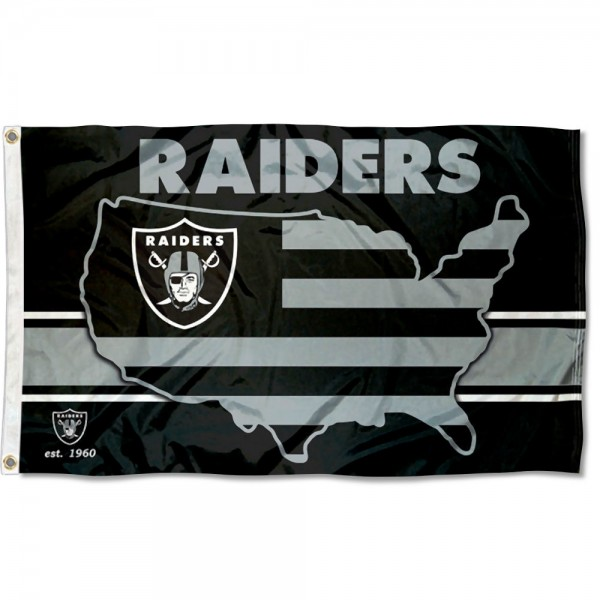 Our Las Vegas Raiders USA Country Flag is double sided, made of poly, 3'x5', has two metal grommets, indoor or outdoor, and four-stitched fly ends. These Las Vegas Raiders USA Country Flags are Officially Approved by the Las Vegas Raiders.