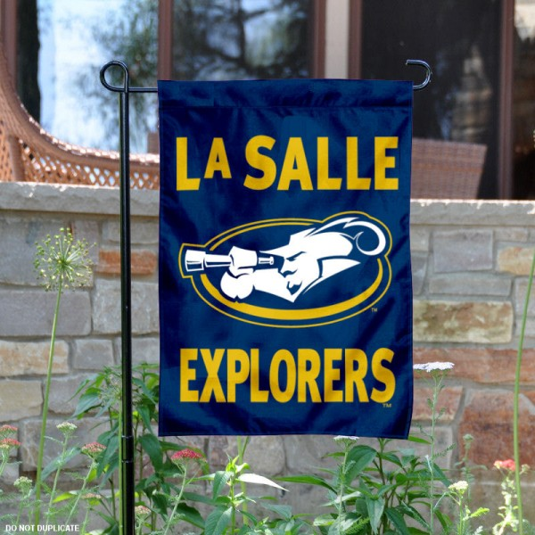 LaSalle University Garden Flag is 13x18 inches in size, is made of 2-layer polyester, screen printed LaSalle University athletic logos and lettering. Available with Same Day Express Shipping, Our LaSalle University Garden Flag is officially licensed and approved by LaSalle University and the NCAA.