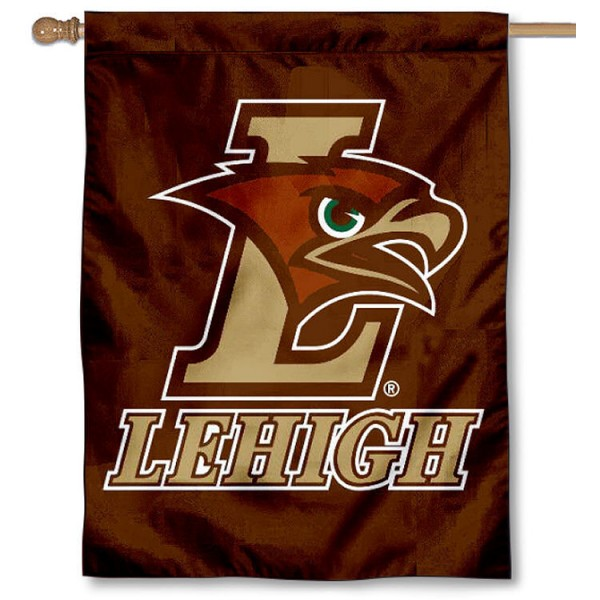 Lehigh Mountain Hawks Banner Flag is a vertical house flag which measures 30x40 inches, is made of 2 ply 100% polyester, offers dye sublimated NCAA team insignias, and has a top pole sleeve to hang vertically. Our Lehigh Mountain Hawks Banner Flag is officially licensed by the selected university and the NCAA.