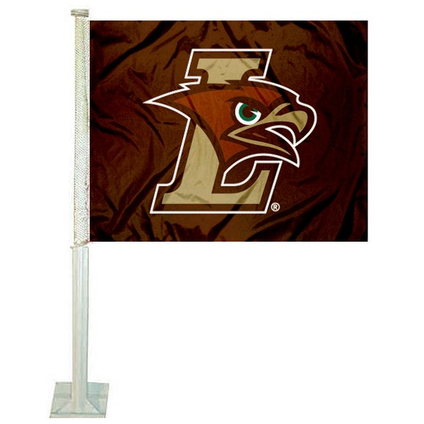 Lehigh Mountain Hawks Logo Car Flag measures 12x15 inches, is constructed of sturdy 2 ply polyester, and has screen printed school logos which are readable and viewable correctly on both sides. Lehigh Mountain Hawks Logo Car Flag is officially licensed by the NCAA and selected university.
