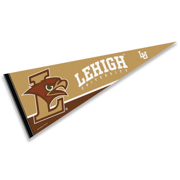 Lehigh Pennant consists of our full size sports pennant which measures 12x30 inches, is constructed of felt, is single sided imprinted, and offers a pennant sleeve for insertion of a pennant stick, if desired. This Lehigh University Felt Pennant is officially licensed by the selected university and the NCAA.