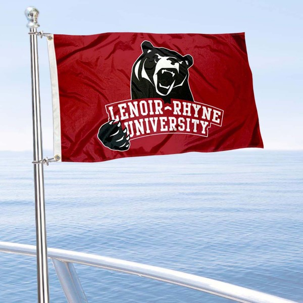 Lenoir Rhyne Bears Boat and Mini Flag is 12x18 inches, polyester, offers quadruple stitched flyends for durability, has two metal grommets, and is double sided. Our mini flags for Lenoir Rhyne University are licensed by the university and NCAA and can be used as a boat flag, motorcycle flag, golf cart flag, or ATV flag.