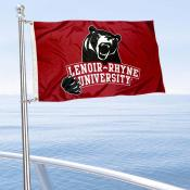 Lenoir Rhyne Bears Boat and Mini Flag