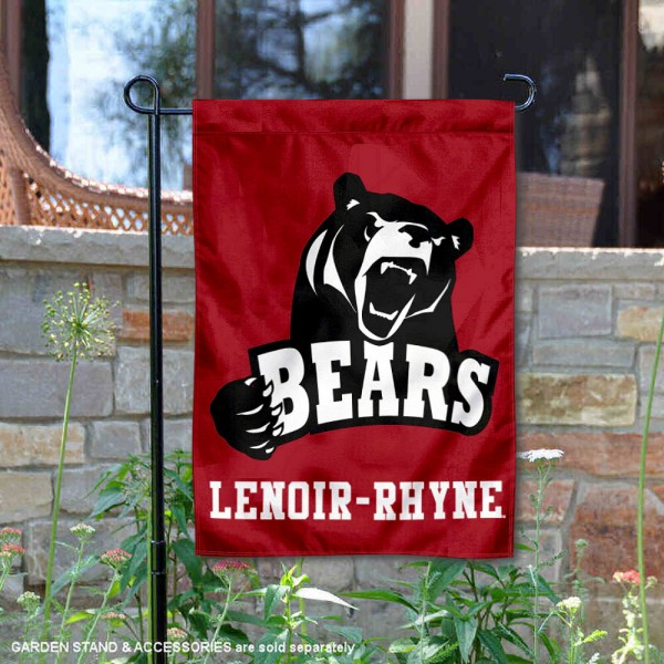 Lenoir Rhyne Bears Garden Flag is 13x18 inches in size, is made of 2-layer polyester, screen printed university athletic logos and lettering, and is readable and viewable correctly on both sides. Available same day shipping, our Lenoir Rhyne Bears Garden Flag is officially licensed and approved by the university and the NCAA.