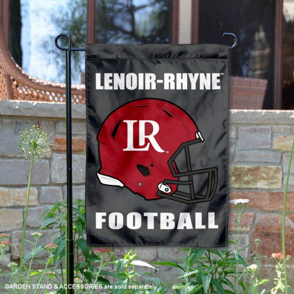 Lenoir Rhyne Bears Helmet Yard Garden Flag is 13x18 inches in size, is made of 2-layer polyester with Liner, screen printed university athletic logos and lettering, and is readable and viewable correctly on both sides. Available same day shipping, our Lenoir Rhyne Bears Helmet Yard Garden Flag is officially licensed and approved by the university and the NCAA.