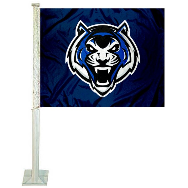 Lincoln Blue Tigers Logo Car Flag measures 12x15 inches, is constructed of sturdy 2 ply polyester, and has screen printed school logos which are readable and viewable correctly on both sides. Lincoln Blue Tigers Logo Car Flag is officially licensed by the NCAA and selected university.