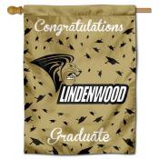 Lindenwood Lions Congratulations Graduate Flag