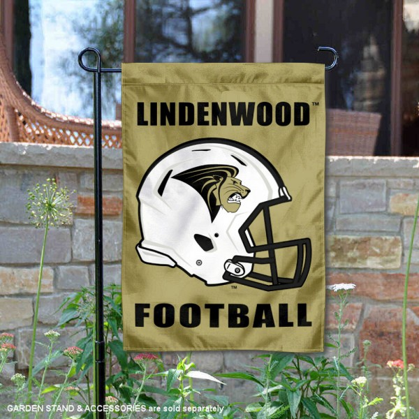 Lindenwood Lions Helmet Yard Garden Flag is 13x18 inches in size, is made of 2-layer polyester with Liner, screen printed university athletic logos and lettering, and is readable and viewable correctly on both sides. Available same day shipping, our Lindenwood Lions Helmet Yard Garden Flag is officially licensed and approved by the university and the NCAA.