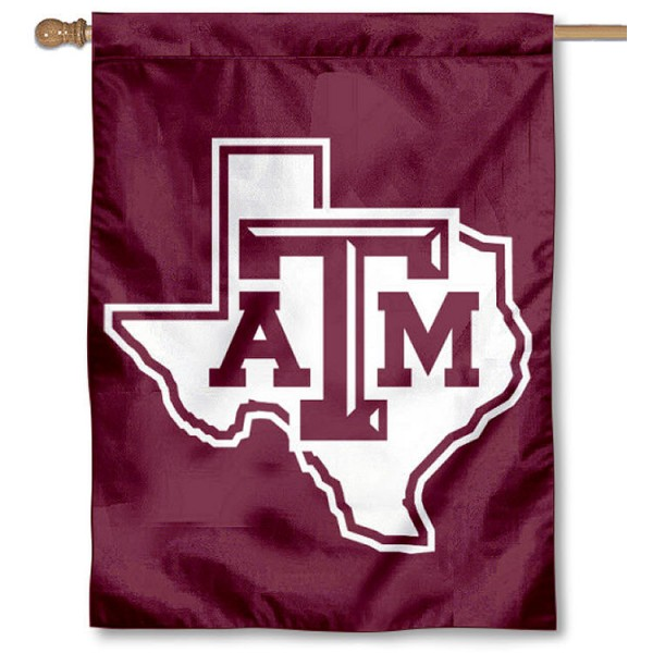 Lone Star Logo House Flag for Texas A&M is a vertical house flag which measures 30x40 inches, is made of 2 ply 100% polyester, offers dye sublimated NCAA team insignias, and has a top pole sleeve to hang vertically. Our Lone Star Logo House Flag for Texas A&M is officially licensed by the selected university and the NCAA.