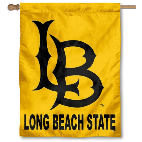 Long Beach State 49ers Banner Flag is a vertical house flag which measures 30x40 inches, is made of 2 ply 100% polyester, offers dye sublimated NCAA team insignias, and has a top pole sleeve to hang vertically. Our Long Beach State 49ers Banner Flag is officially licensed by the selected university and the NCAA.