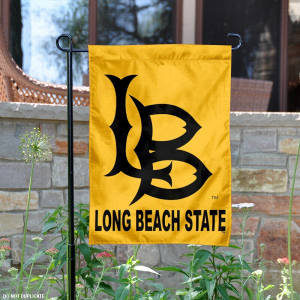 Long Beach State Garden Flag is 13x18 inches in size, is made of 2-layer polyester, screen printed Long Beach State athletic logos and lettering. Available with Same Day Express Shipping, Our Long Beach State Garden Flag is officially licensed and approved by Long Beach State and the NCAA.