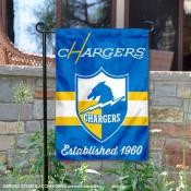 Los Angeles Chargers Throwback Logo Double Sided Garden Flag Flag
