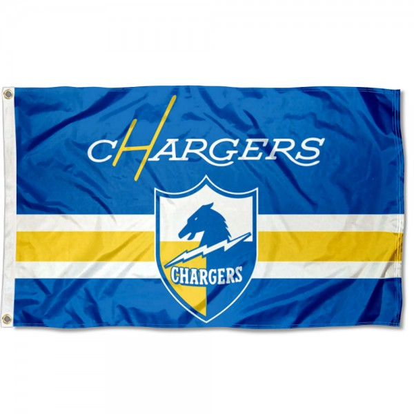 Our Los Angeles Chargers Throwback Retro Vintage Logo Flag is double sided, made of poly, 3'x5', has two metal grommets, indoor or outdoor, and four-stitched fly ends. These Los Angeles Chargers Throwback Retro Vintage Logo Flags are Officially Approved by the Los Angeles Chargers.
