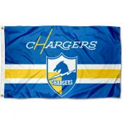 Los Angeles Chargers Throwback Retro Vintage Logo Flag