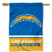 Los Angeles Chargers Wordmark Double Sided House Banner