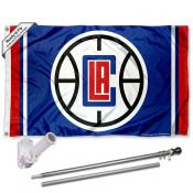 Los Angeles Clippers Flag Pole and Bracket Kit