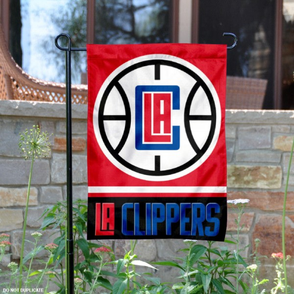 Los Angeles Clippers Garden Flag is 12.5x18 inches in size, is made of 2-ply polyester, and has two sided screen printed logos and lettering. Available with Express Next Day Shipping, our Los Angeles Clippers Garden Flag is NBA Genuine Merchandise and is double sided.