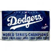 Los Angeles Dodgers 7 Time World Champions Grommet Flag