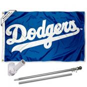 Los Angeles Dodgers Script Flag Pole and Bracket Kit