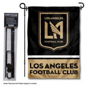 Los Angeles FC Garden Flag and Flagpole Stand