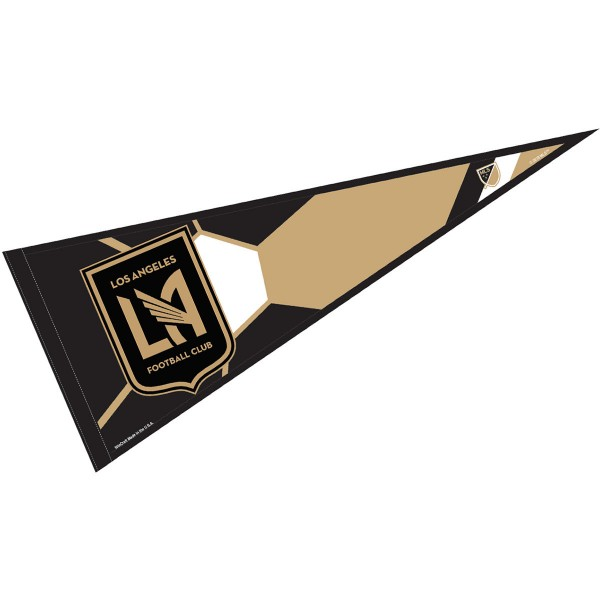 Los Angeles FC Pennant is our Full Size MLS soccer team pennant which measures 12x30 inches, is made of felt, and is single sided screen printed. Our Los Angeles FC Pennant is perfect for showing your MLS team allegiance in any room of the house and is MLS licensed.