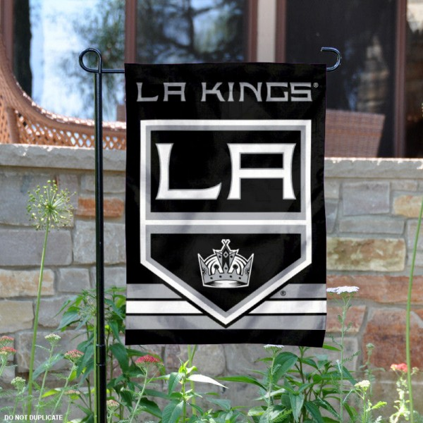 Los Angeles Kings Garden Flag is 12.5x18 inches in size, is made of 2-ply polyester, and has two sided screen printed logos and lettering. Available with Express Next Day Ship, our Los Angeles Kings Garden Flag is NHL Officially Licensed and is double sided.