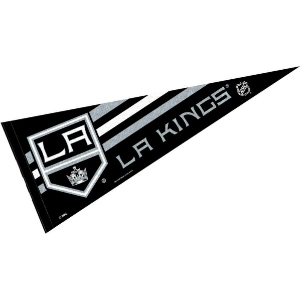 Los Angeles Kings NHL Pennant is our full size 12x30 inch pennant which is made of felt, is single sided screen printed, and is perfect for decorating at home or office. Display your NHL hockey allegiance with this NHL Genuine Merchandise item.