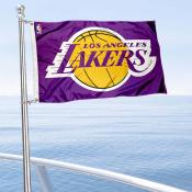 Los Angeles Lakers Boat and Nautical Flag