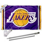 Los Angeles Lakers Flag Pole and Bracket Kit