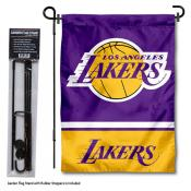 Los Angeles Lakers Garden Flag and Flag Pole Stand