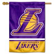 Los Angeles Lakers Logo Double Sided House Flag