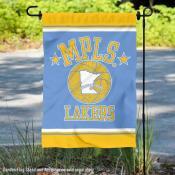 Los Angeles Lakers Retro Hardwood Classics Double Sided Garden Flag