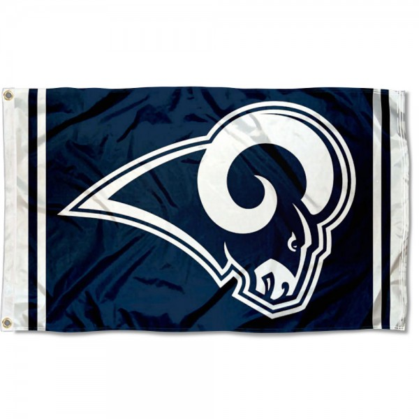 Our Los Angeles Rams Flag is double sided, made of poly, 3'x5', has two metal grommets, indoor or outdoor, and four-stitched fly ends. These Los Angeles Rams Flags are Officially Approved by the Los Angeles Rams.