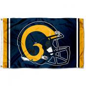 Los Angeles Rams Gold Helmet Flag