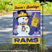 Los Angeles Rams Holiday Winter Snow Double Sided Garden Flag