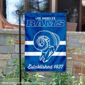 Los Angeles Rams Throwback Logo Double Sided Garden Flag Flag