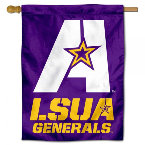 Louisiana Alexandria Generals Double Sided House Flag is a vertical house flag which measures 30x40 inches, is made of 2 ply 100% polyester, offers screen printed NCAA team insignias, and has a top pole sleeve to hang vertically. Our Louisiana Alexandria Generals Double Sided House Flag is officially licensed by the selected university and the NCAA.
